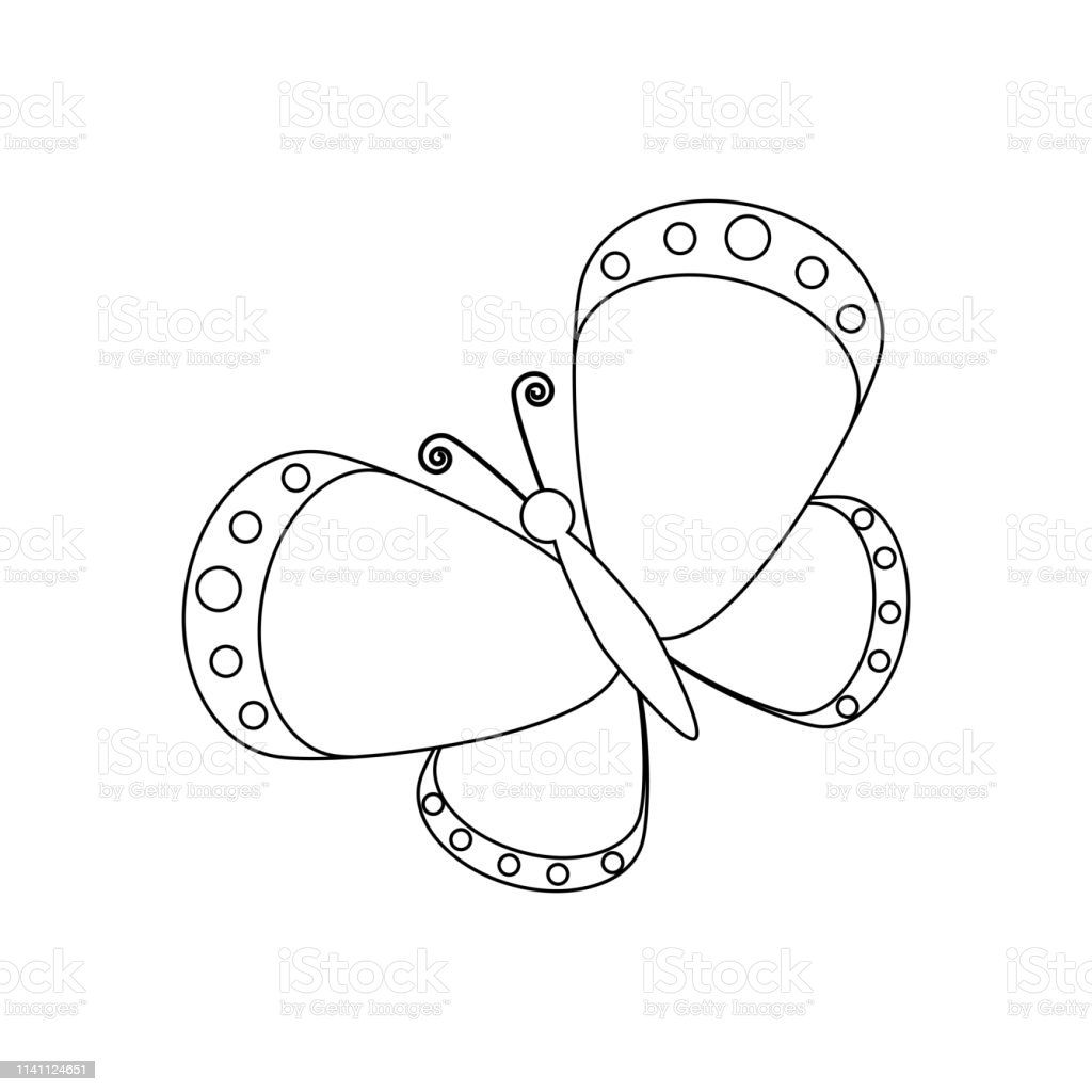 Butterfly Coloring Pages Stock Illustration - Download ...