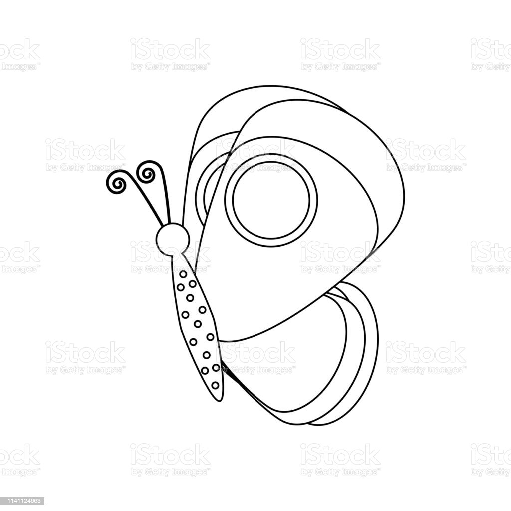 Butterfly Coloring Pages Stock Illustration Download Image Now Istock