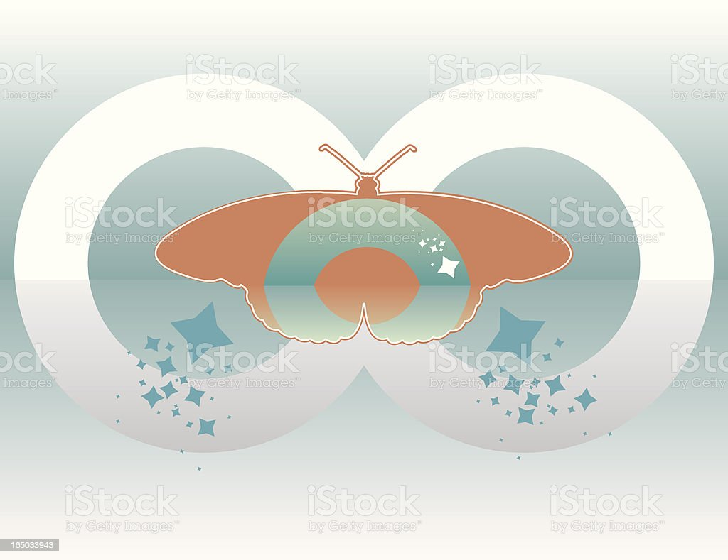 butterfly composition (vector) royalty-free stock vector art