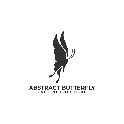 BUtterfly Design silhouette concept Illustration Vector Template