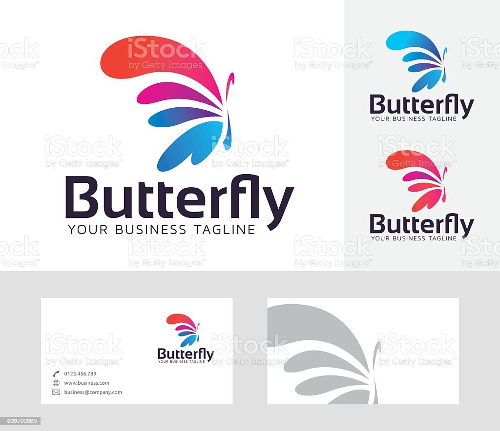 Butterfly Entertainment vector logo vector art illustration