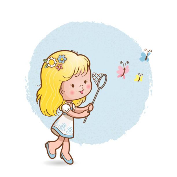 Butterfly girl vector art illustration