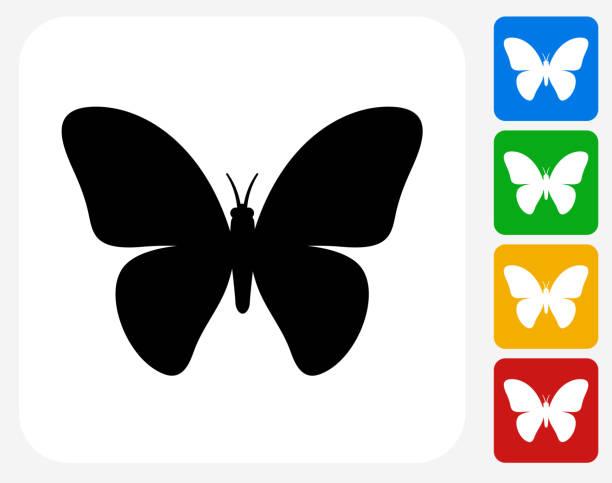 Mariposa iconos planos de diseño gráfico - ilustración de arte vectorial