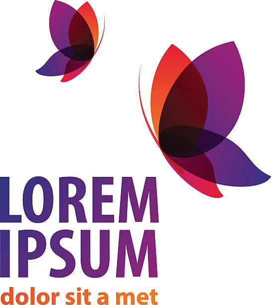 Logotipo de la marca de iconos de mariposa - ilustración de arte vectorial