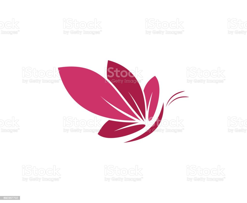 Butterfly icon vector art illustration