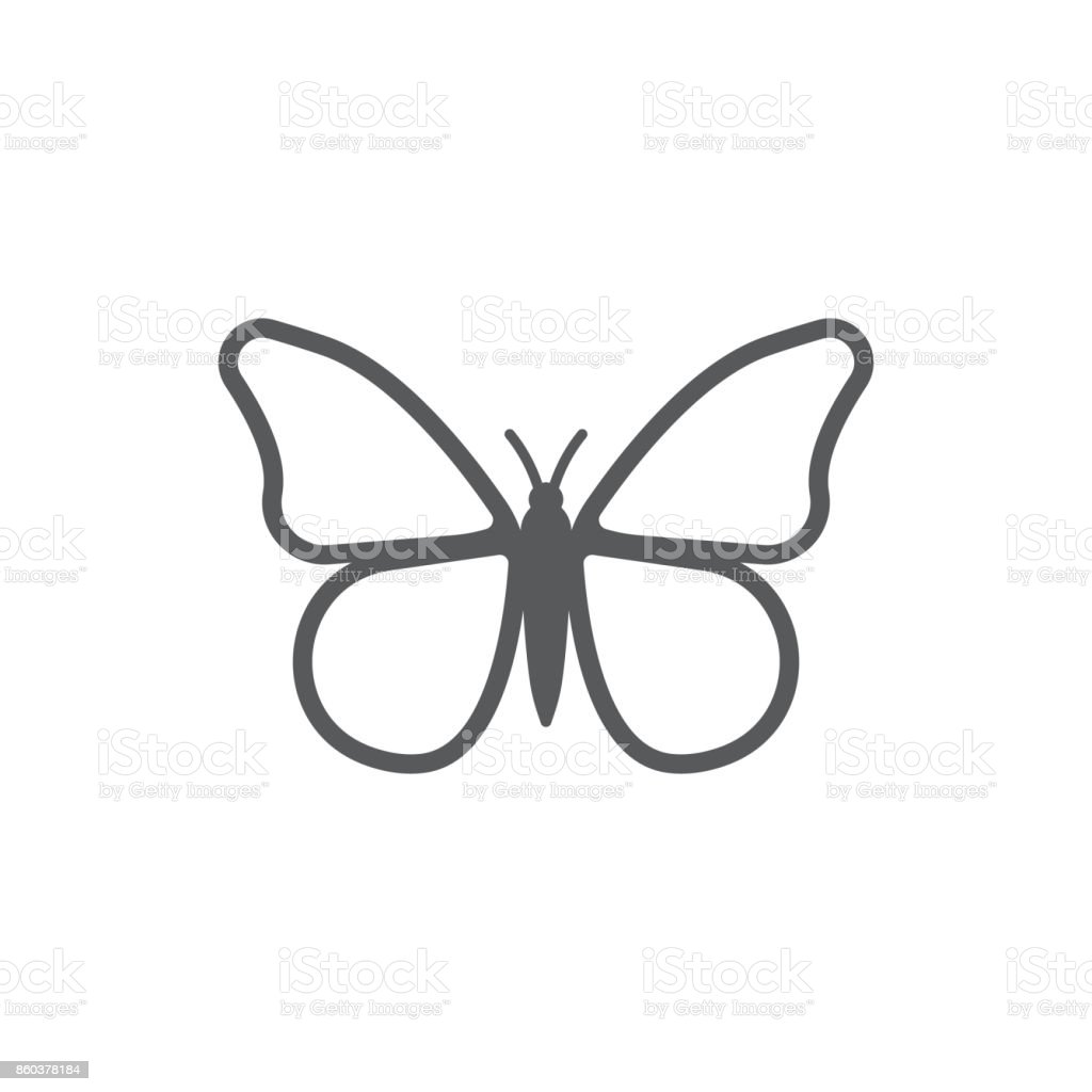 Butterfly icon. vector art illustration