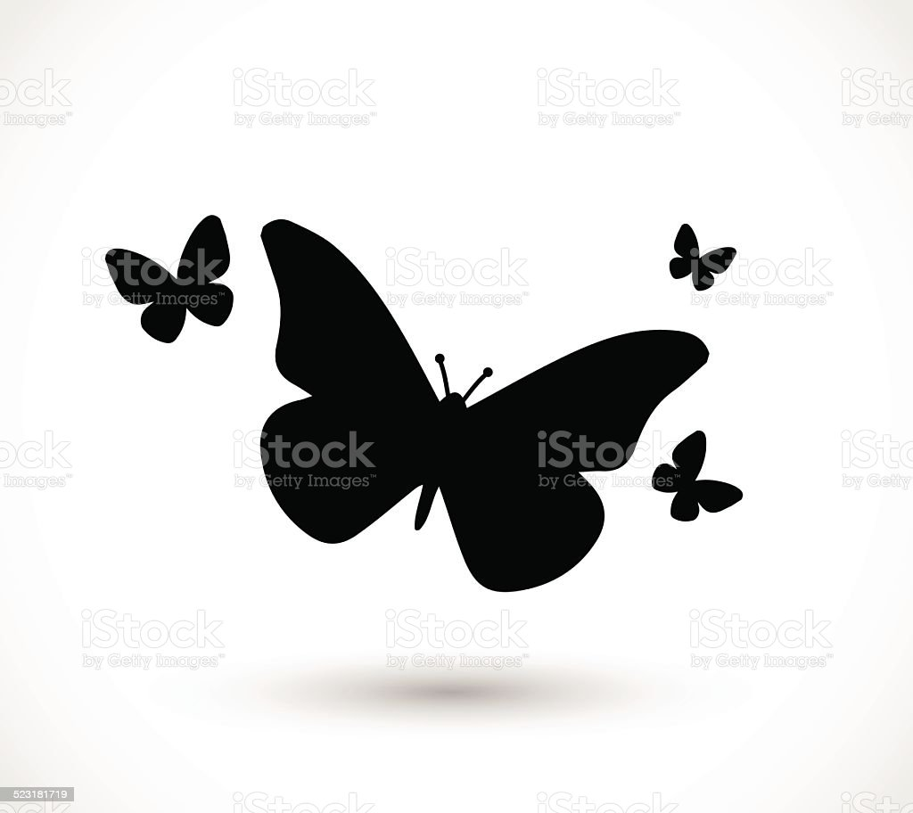 Butterfly icon vector vector art illustration
