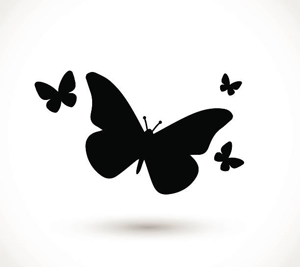 illustrations, cliparts, dessins animés et icônes de vecteur de l'icône papillon - papillon