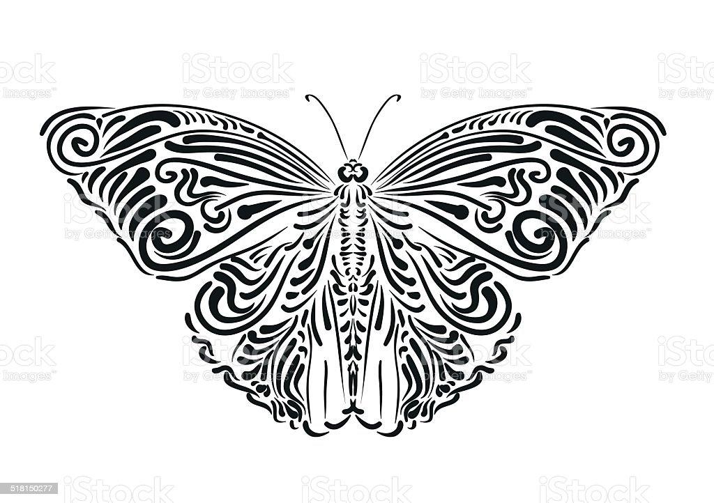 Butterfly Illustration vector art illustration