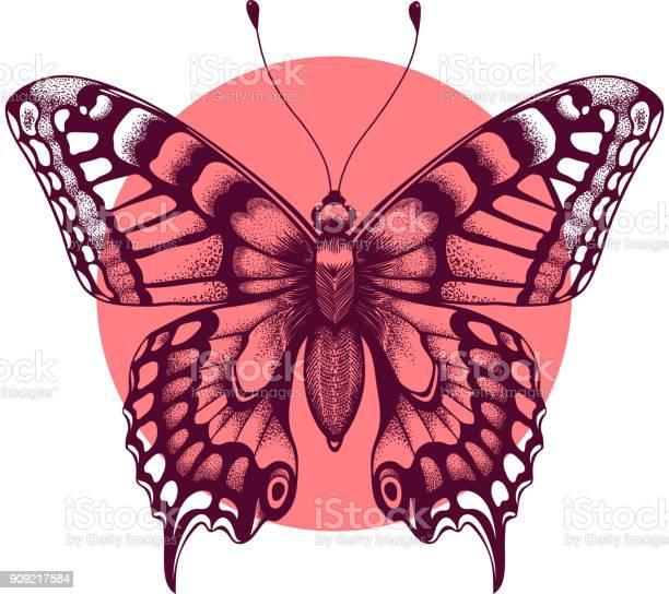 Butterfly in pink circle beautiful tattoo butterfly symbol of soul vector id909217584?b=1&k=6&m=909217584&s=612x612&h=a7fdjdt0jrl1 4oyflt0zlyjg7ipbfjh0rkvrwwgxxw=