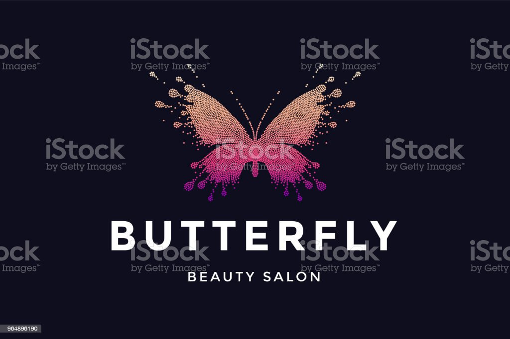 Butterfly. Label for beauty salon royalty-free butterfly label for beauty salon stock vector art & more images of advertisement
