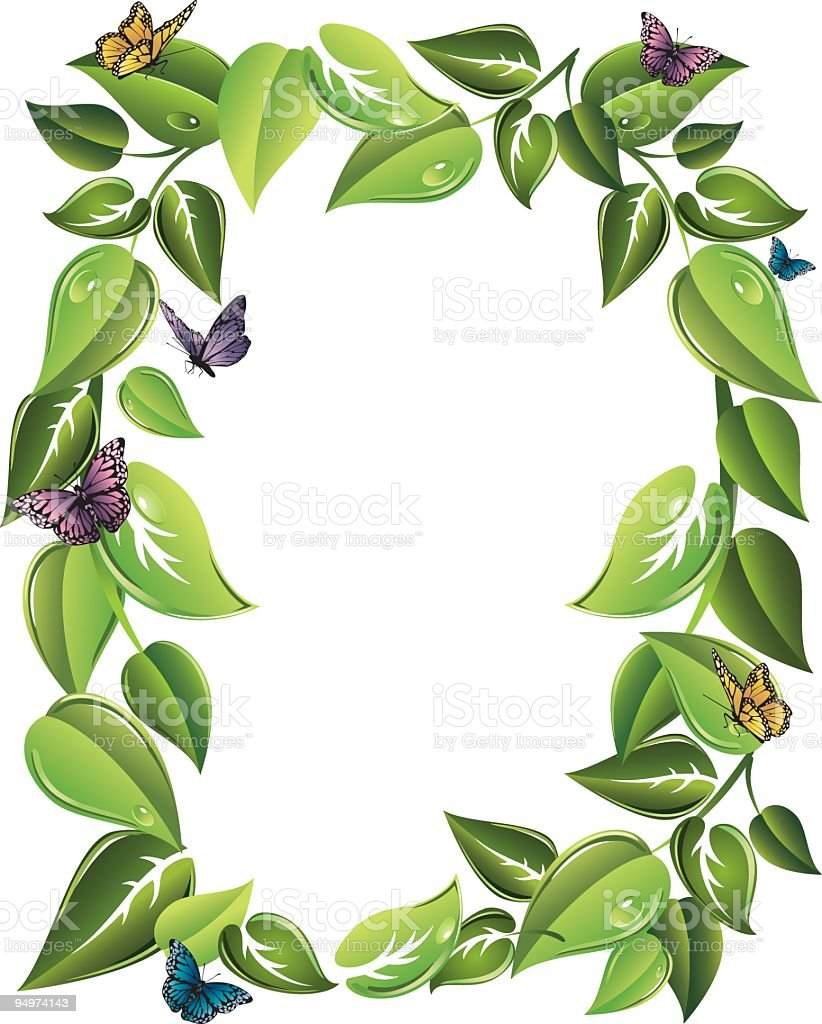 butterfly leaf border stock vector art 94974143 istock