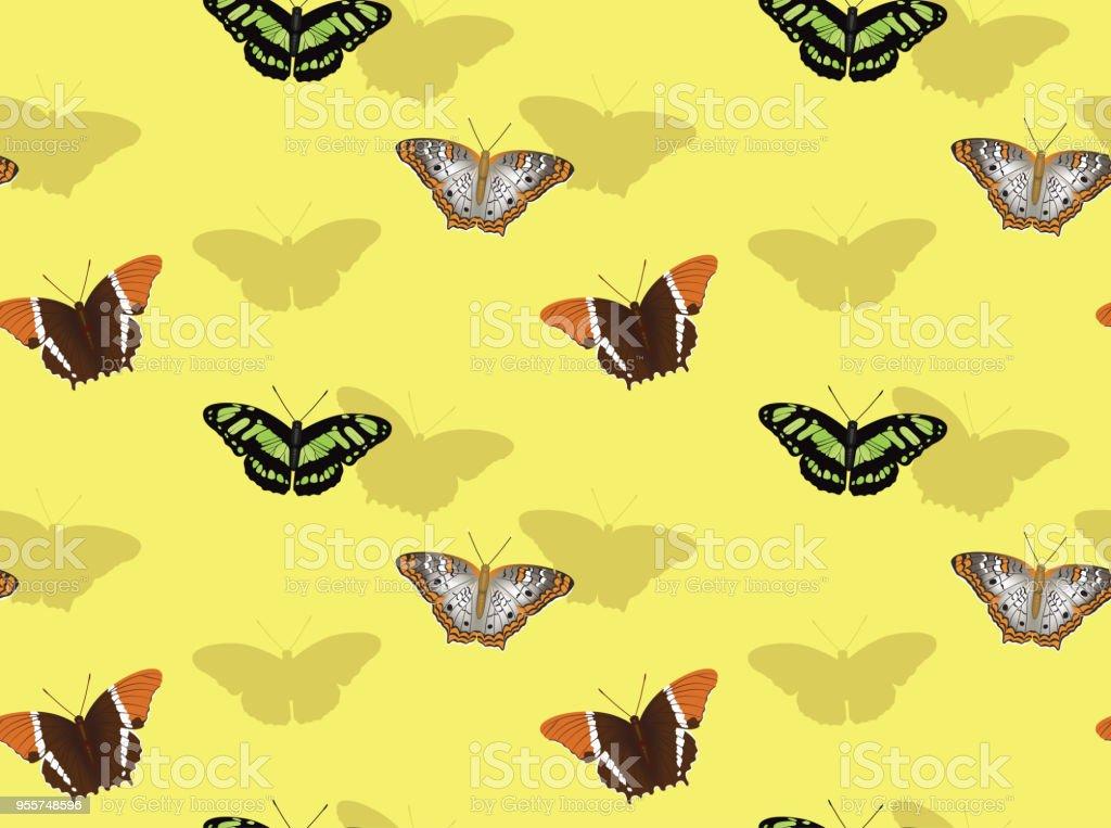 Kelebek Malakit çizgi Film Arka Plan Sorunsuz Duvar Kağıdı Stok