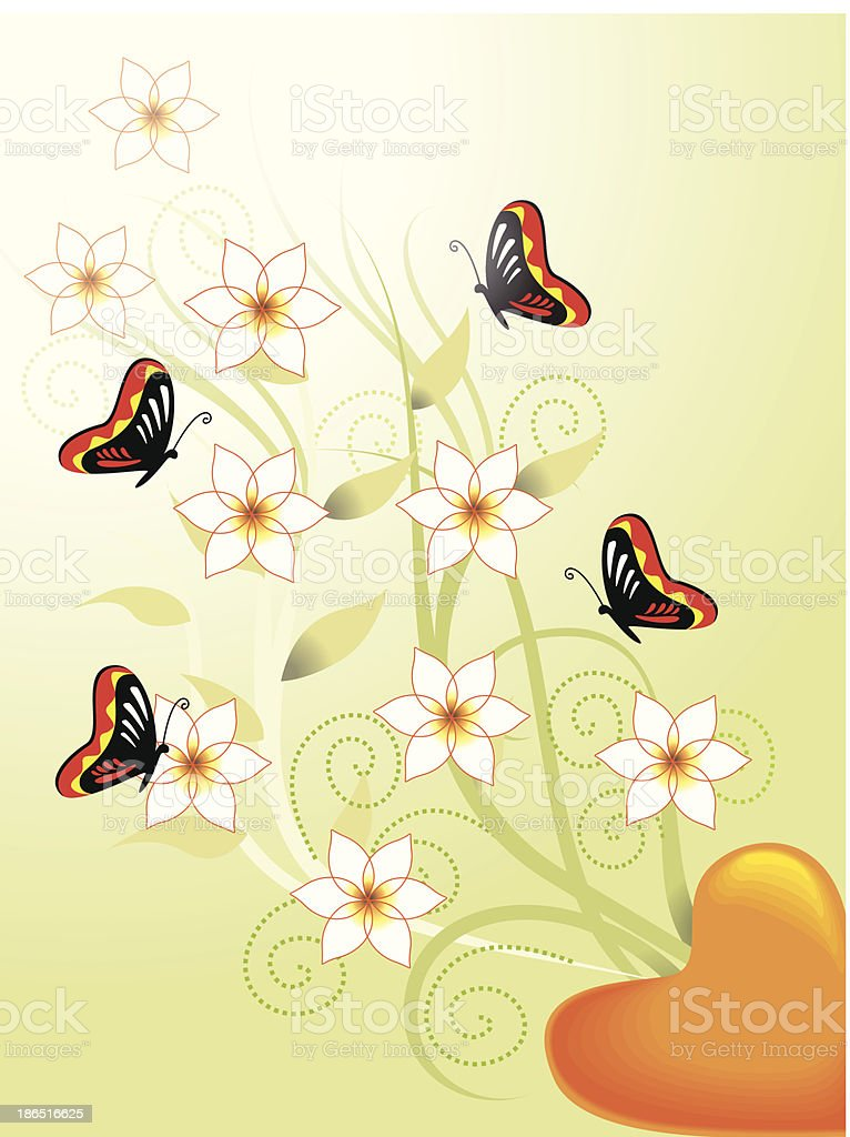 Butterfly on yellow flower royalty-free butterfly on yellow flower stock vector art & more images of animal markings