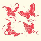 Butterfly patterns of China style