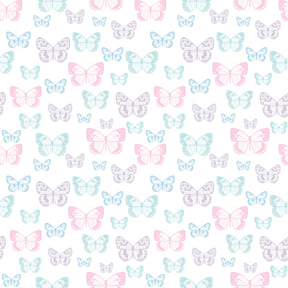 Butterfly seamless repeat pattern background