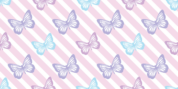 Butterfly seamless repeat pattern design