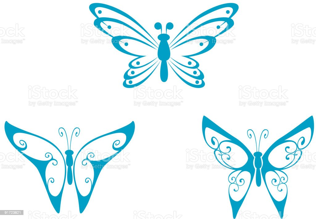 Butterfly shapes royalty-free stock vector art