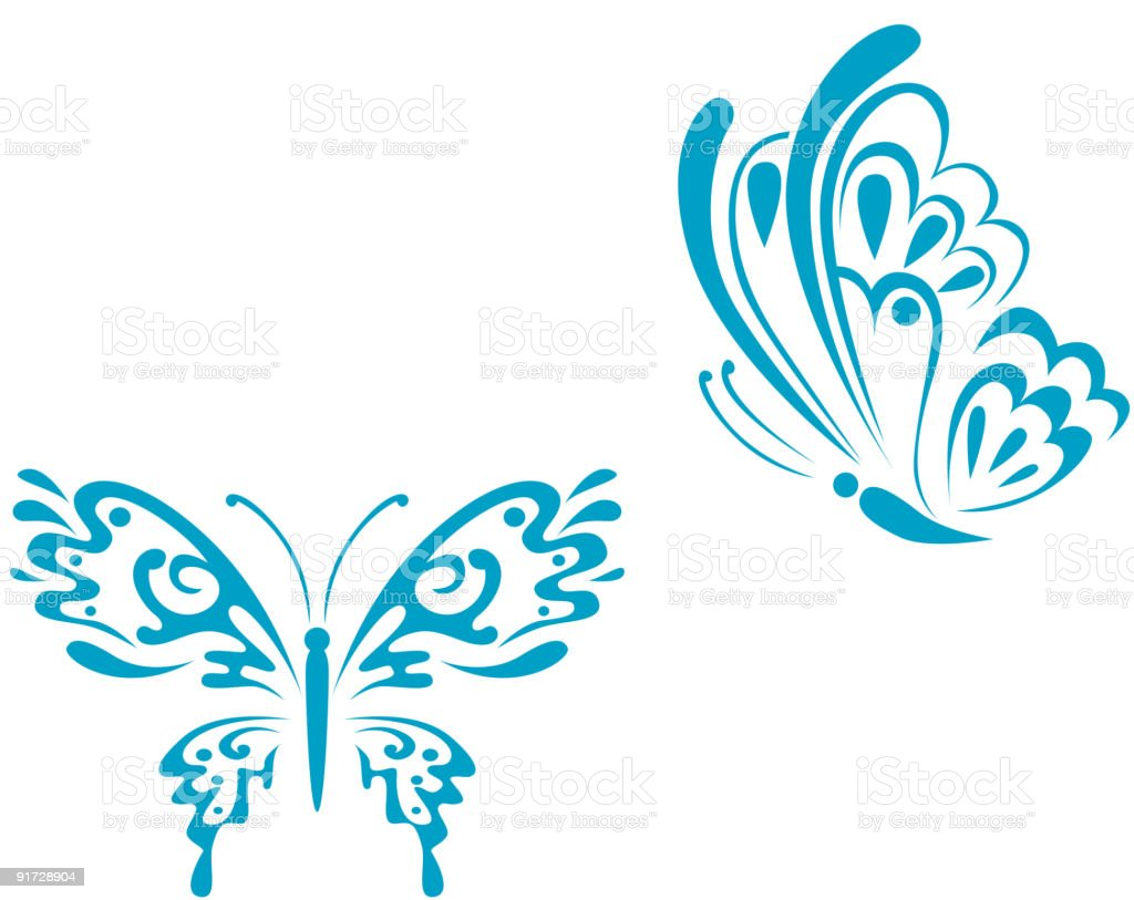 Butterfly shapes royalty-free butterfly shapes stock vector art & more images of abstract