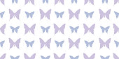 Butterfly silhouette seamless vector pattern background