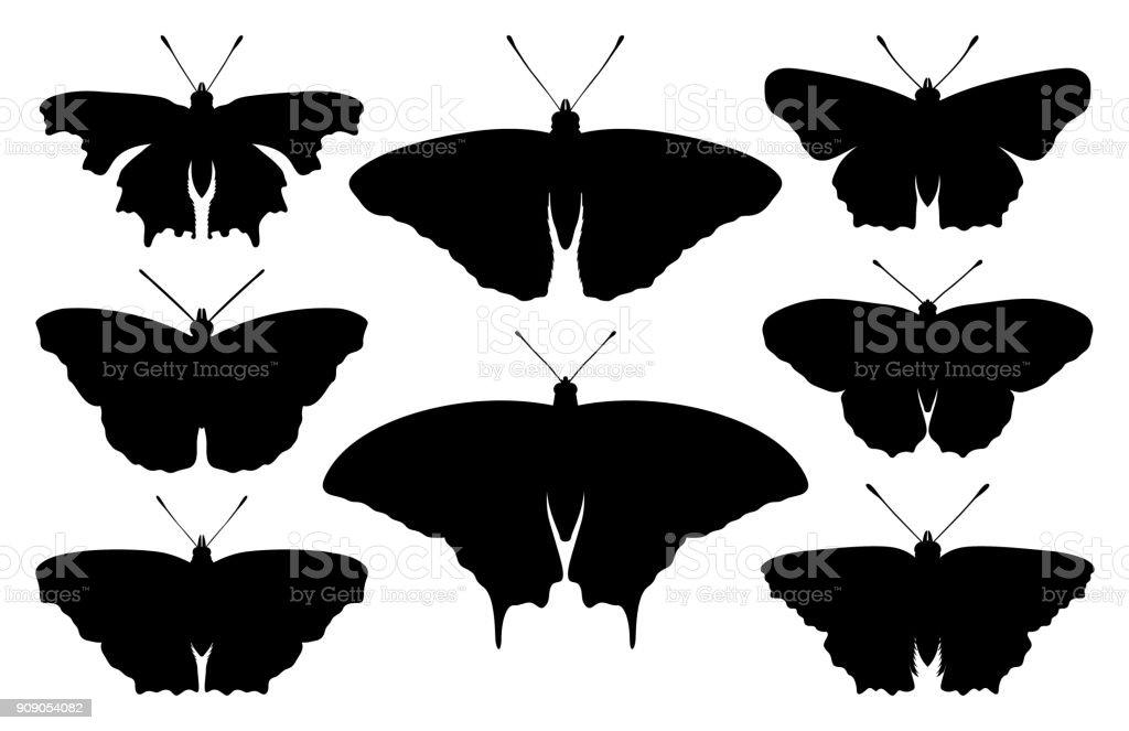 Schmetterling-silhouette – Vektorgrafik