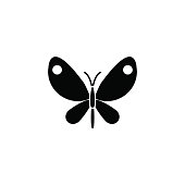 Butterfly solid icon, spring easter elements, insect sign, a filled pattern on a white background, eps 10.