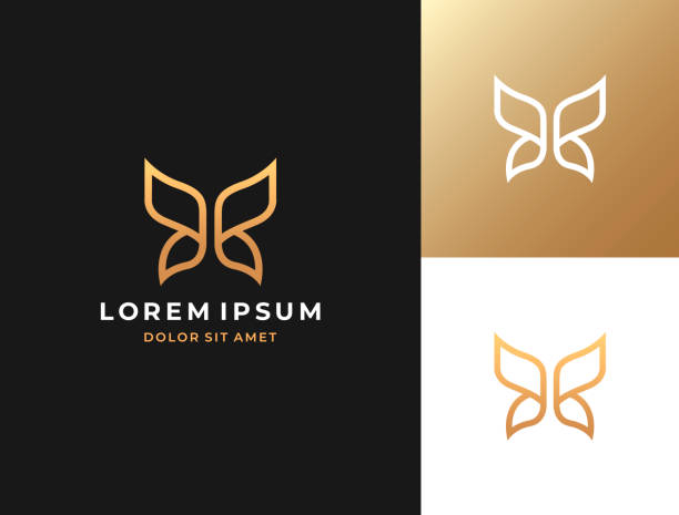 Butterfly symbol. Vector icon template. Butterfly symbol. Vector icon template. butterfly insect stock illustrations