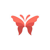 Butterfly symbol. Vector icon template.