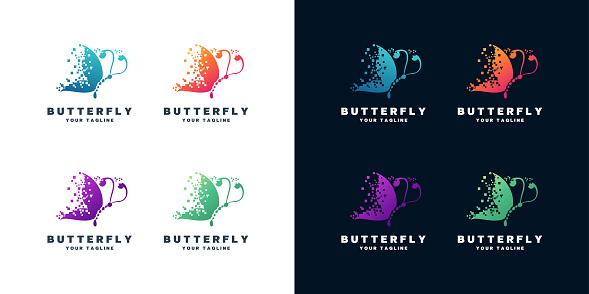 Butterfly vector design set