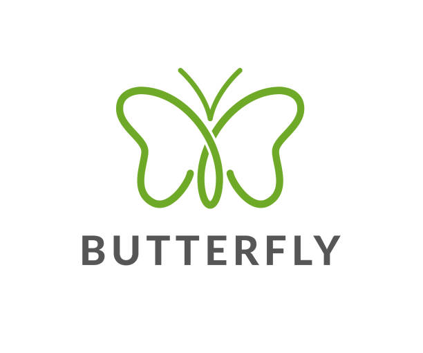 butterfly vector icon - butterfly stock illustrations
