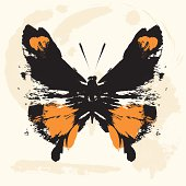 a butterfly vector illustration.separate layers...