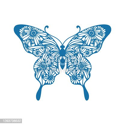 istock Butterfly(China paper-cut patterns) 1263738532