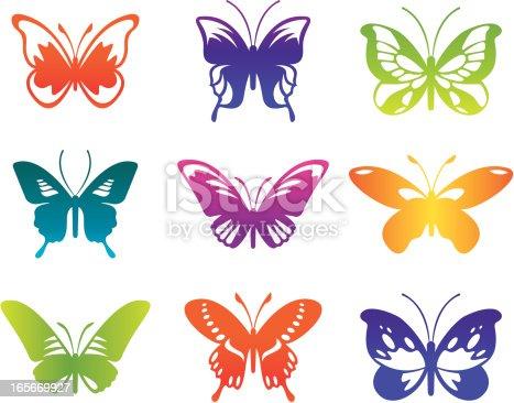 Butterflies vector icon.