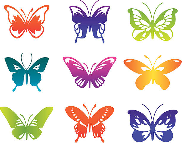 バタフライ - チョウ点のイラスト素材/クリップアート素材/マンガ素材/アイコン素材