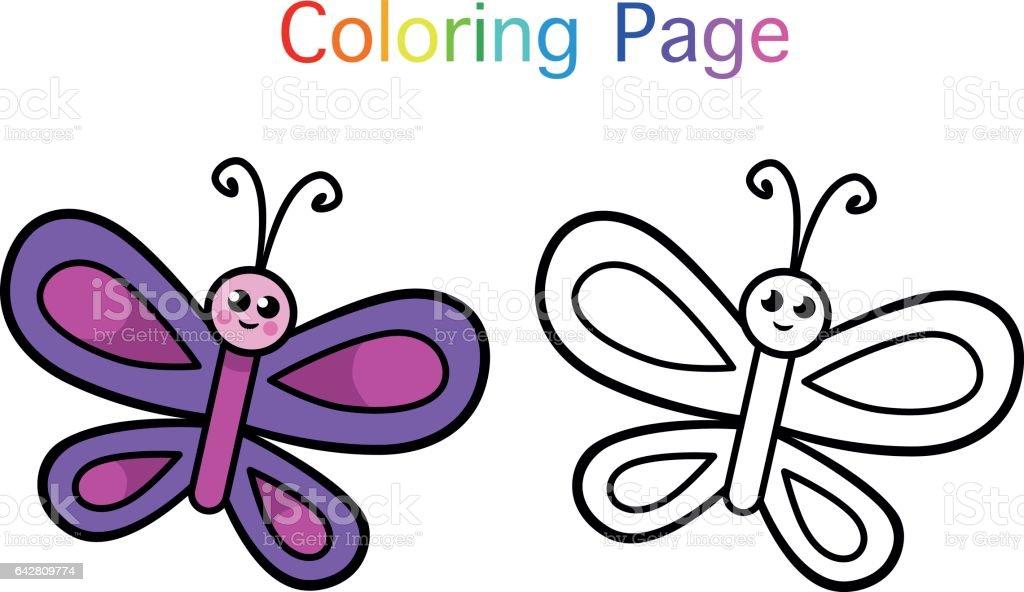 Kelebek Stok Vektör Sanatı Animasyon Karakternin Daha Fazla