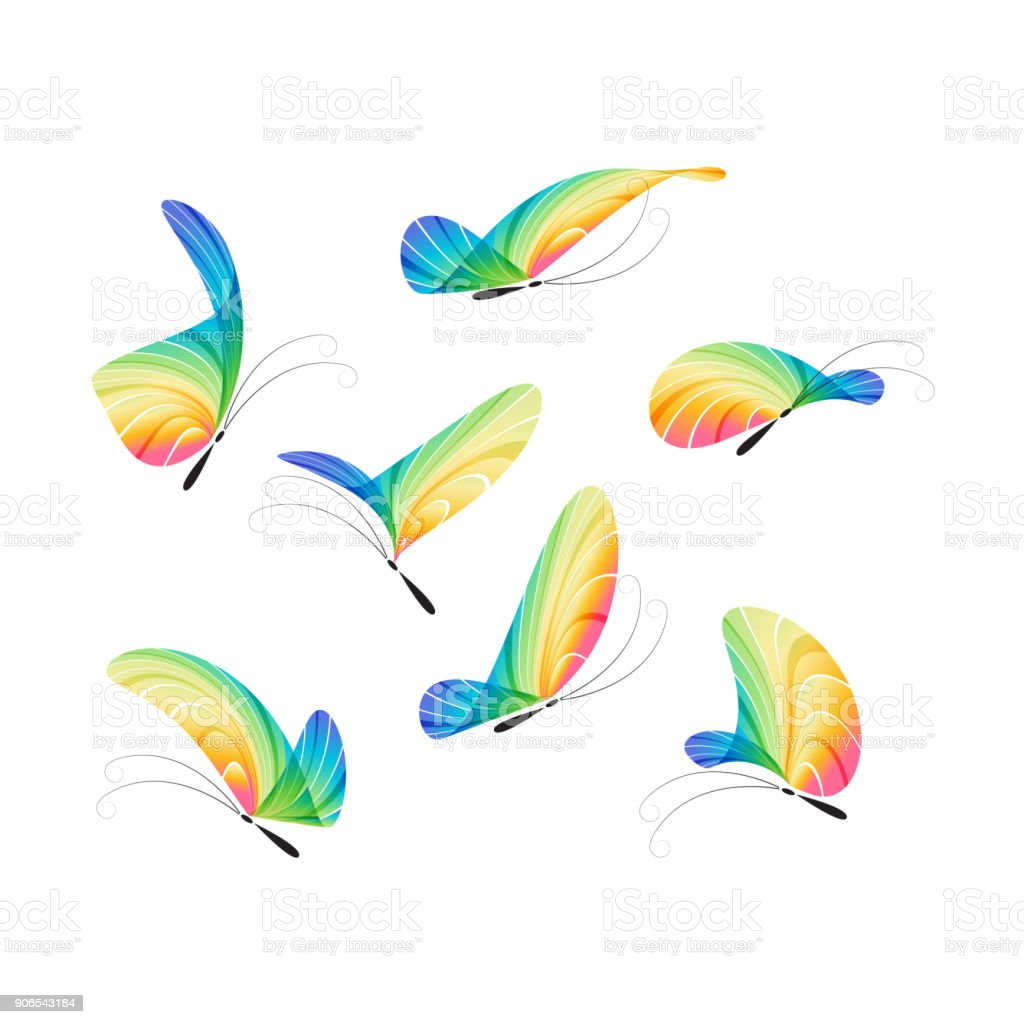 Butterfly vector set vector art illustration