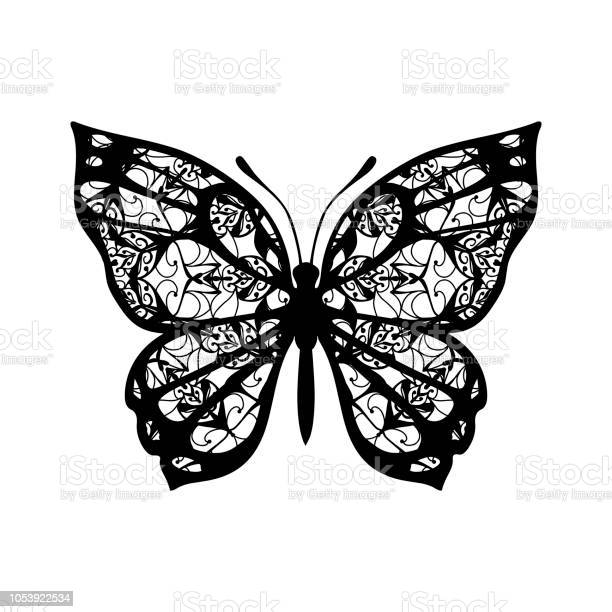 Butterfly with patterned wings black on white vector id1053922534?b=1&k=6&m=1053922534&s=612x612&h=fljmpz0 c 1lq0covhhigxbgcll5s3ldp6bojm1 l0e=