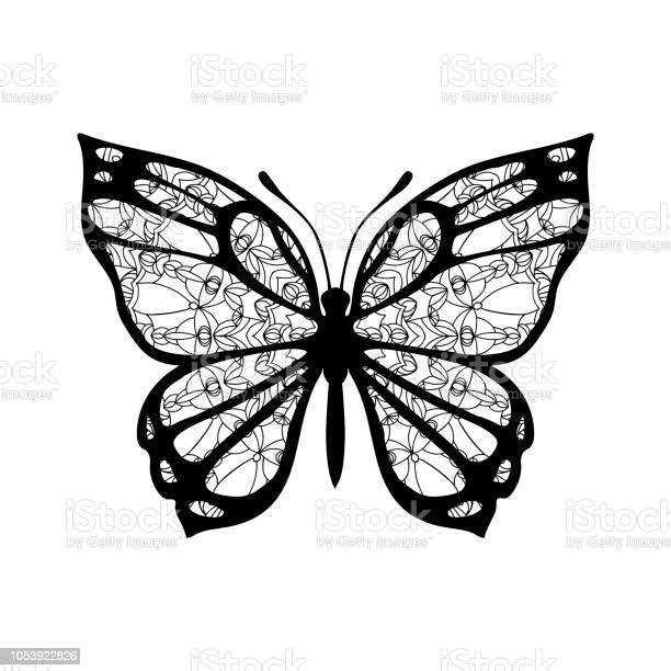 Butterfly with patterned wings black on white vector id1053922826?b=1&k=6&m=1053922826&s=612x612&h=h9xlhjswrtsp2 epzfmaaolcv7hpfnutxtplvlsobq0=