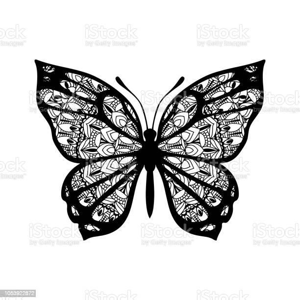 Butterfly with patterned wings black on white vector id1053922872?b=1&k=6&m=1053922872&s=612x612&h=x8hges4xcikssczsj1wcwwadzpfuayp yv1nubl7zni=