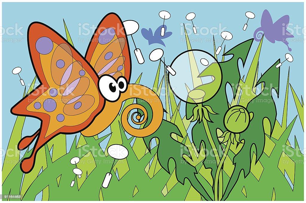 Butterfly1 vector art illustration
