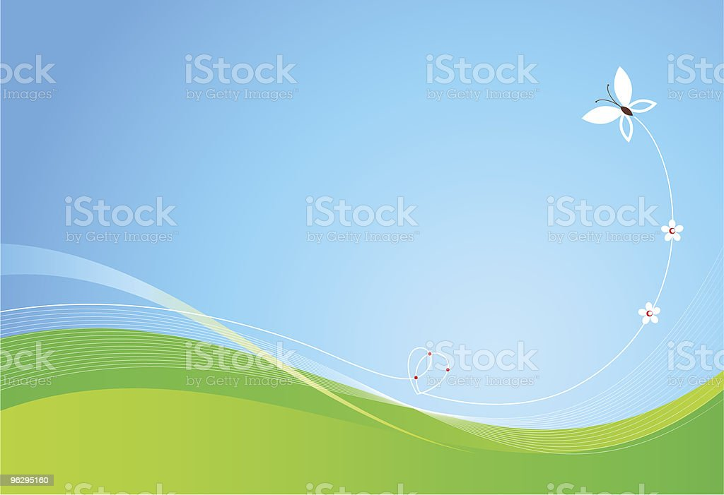 Butterfly_background royalty-free stock vector art
