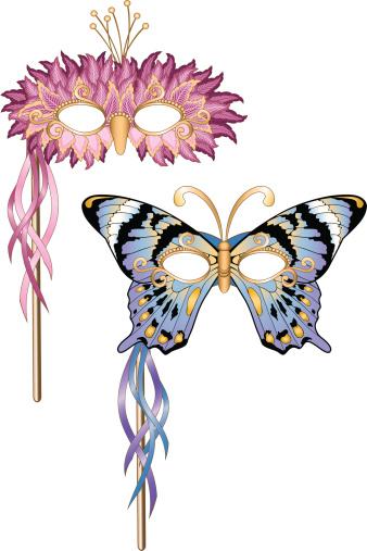 Butterfly/Bird Mardi Gras Masquerade Party Masks
