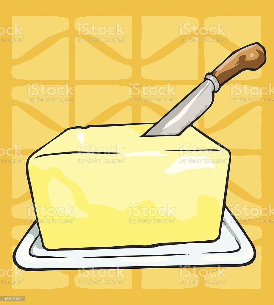 buttery butter vector art illustration