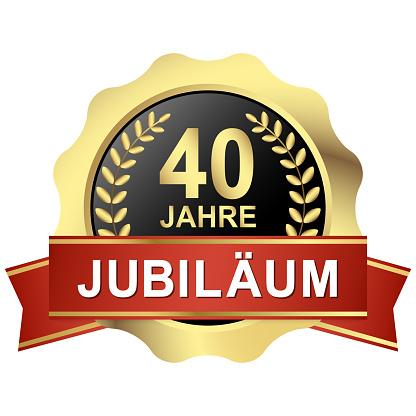 button 40 years jubilee (in german)