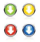 Button arrow. Vector