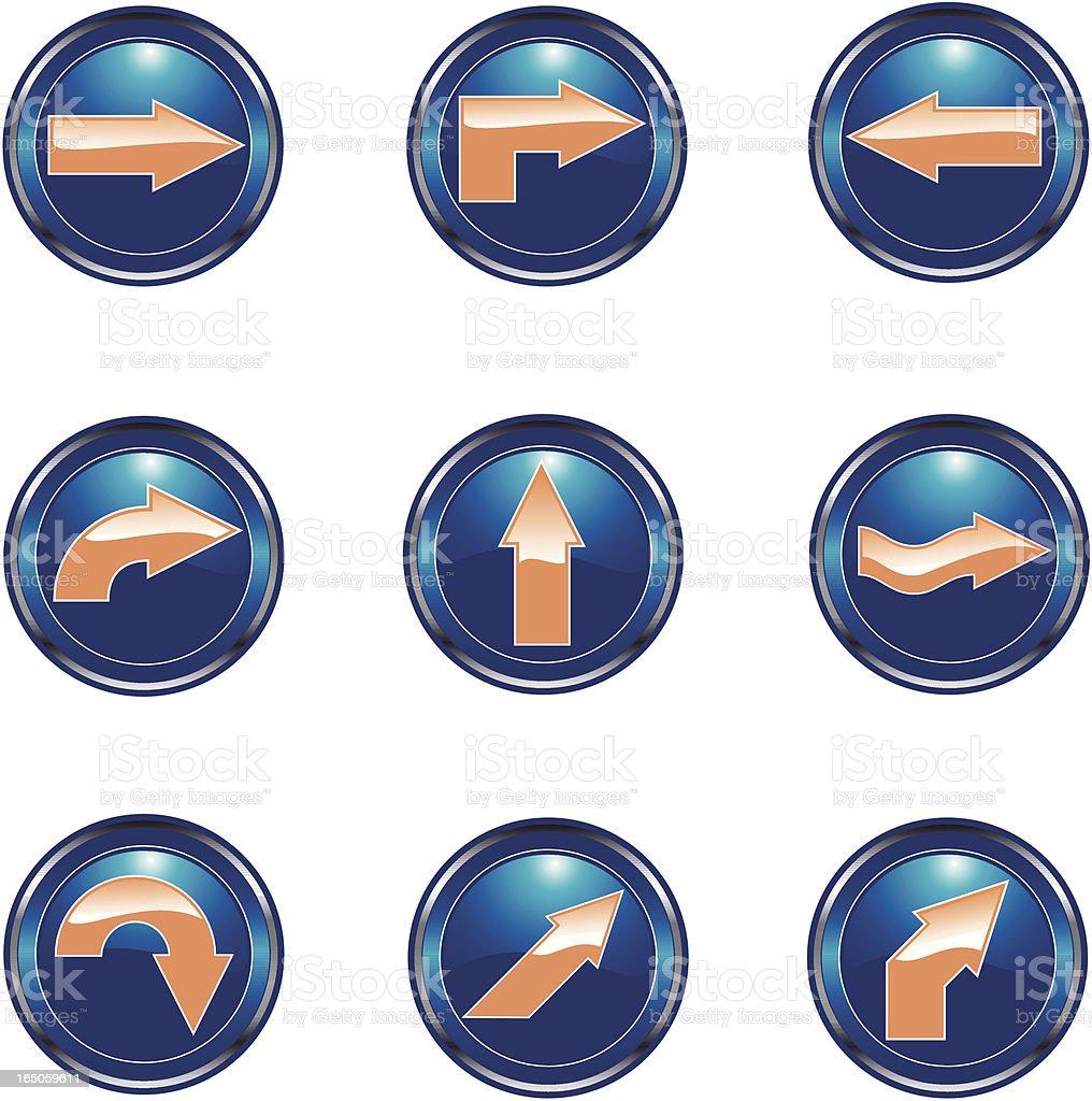 button arrows royalty-free button arrows stock vector art & more images of arrow symbol