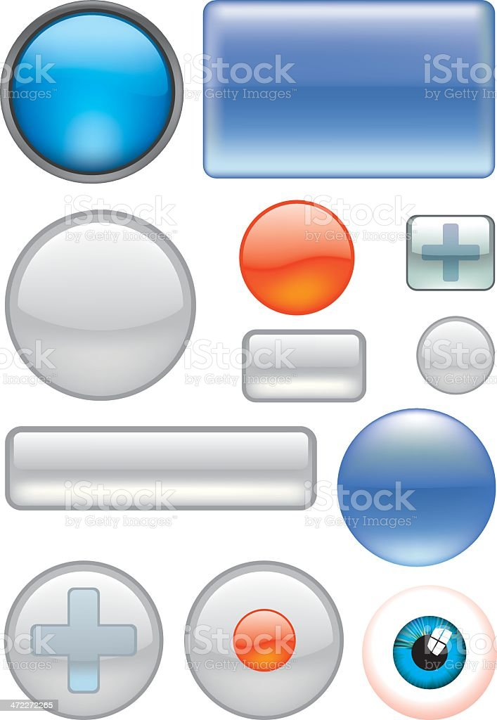 Button backgrounds royalty-free stock vector art