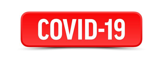 COVID-19 - Button, Banner, Label Template. Vector Stock Illustration