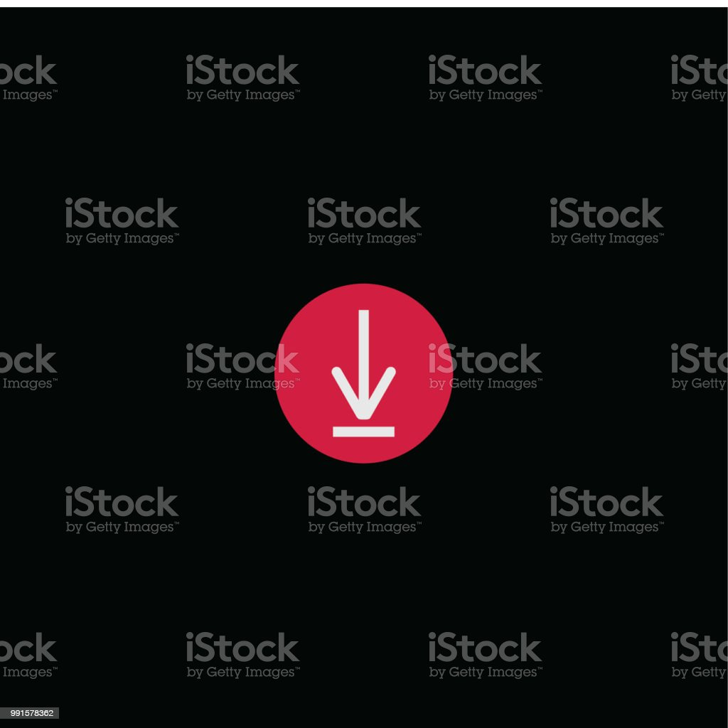 Ilustración de Botón Descargar Vector Plantilla Diseño Ilustración y ...