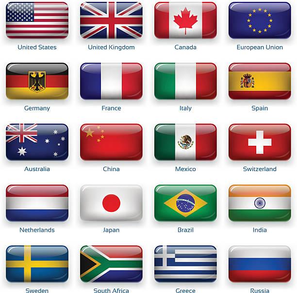 ボタンフラグ: 最も人気の国 - メキシコの国旗点のイラスト素材/クリップアート素材/マンガ素材/アイコン素材